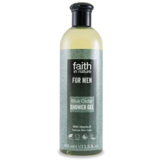 SLEVA 30% POŠKOZENÉ Faith For Men přírodní sprchový gel BIO Modrý cedr 250ml