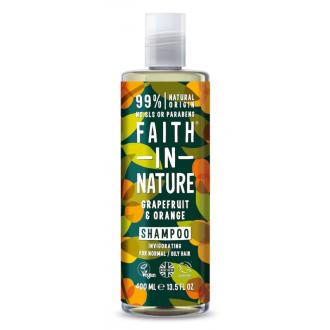 SLEVA 15% POŠKOZENÉ Faith in Nature přírodní šampon grapefruit a pomeranč 400ml