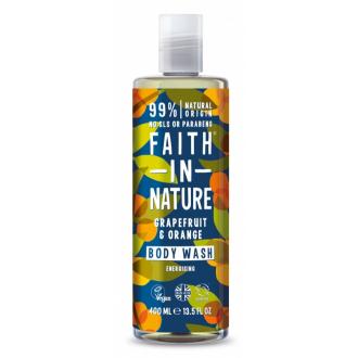 SLEVA 15% POŠKOZENÉ Faith in Nature přírodní sprchový gel Grapefruit&Pomeranč 400ml