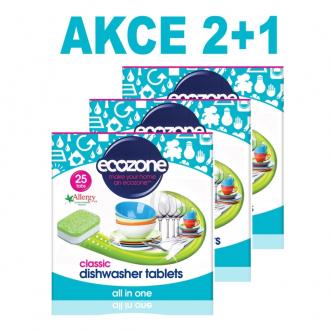 AKCE 2+1 Ecozone tablety do myčky Classic 25ks