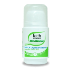 Faith in Nature kuličkový deo-krystal 50ml - BIO Green Tea