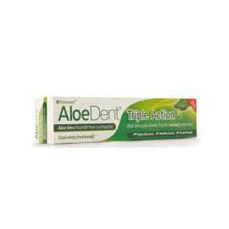 Aloe Dent přírodní rodinná zubní pasta Triple Action bez fluoru 100ml