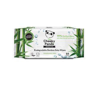 Cheeky Panda dětské vlhčené bambusové ubrousky 100% rozložitelné 64ks