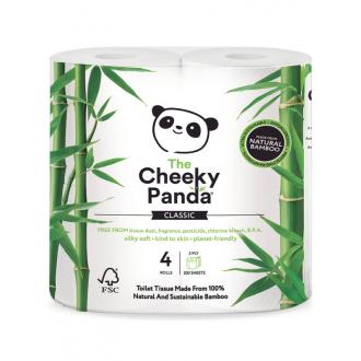 Cheeky Panda toaletní papír 3-vrstvý, 200 útržků, 4 role