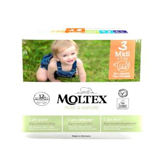 Dětské pleny Moltex Pure & Nature Midi 4-9 kg (33 ks)