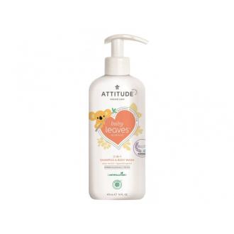 Dětské tělové mýdlo a šampon (2v1) Attitude baby leaves s vůní hruškové šťávy 473ml