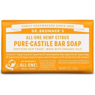 Dr Bronners BIO tuhé mýdlo - Citrus 140g