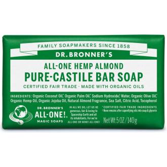 Dr Bronners BIO tuhé mýdlo - mandle 140g