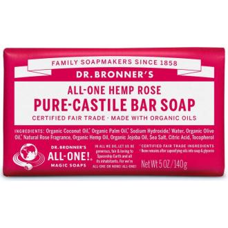 Dr Bronners BIO tuhé mýdlo - růže 140g
