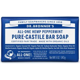 Dr Bronners BIO tuhé mýdlo - s mátou 140g