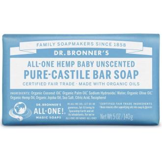 Dr Bronners jemné dětské BIO tuhé mýdlo 140g