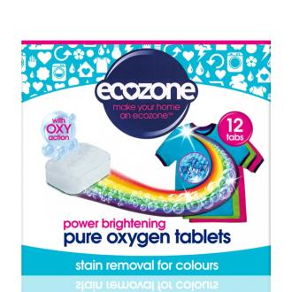 Ecozone Oxy tablety na barevné prádlo 12ks