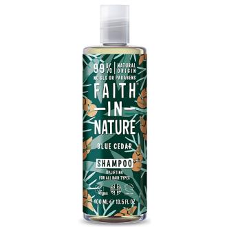 Faith For Men přírodní šampon Modrý cedr MAXI 400ml