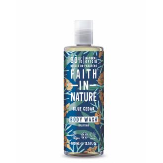 Faith For Men přírodní sprchový gel BIO Modrý cedr MAXI 400ml