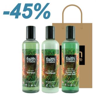 Faith in Nature - výhodný dárkový set Aloe Vera 3x250ml