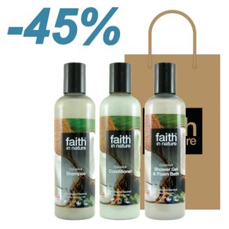 Faith in Nature - výhodný dárkový set Kokos 3x250ml