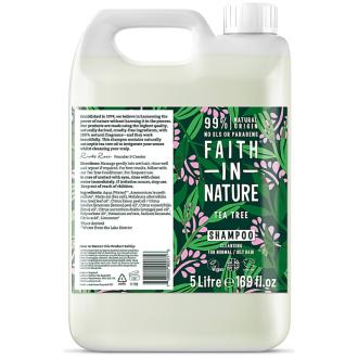 5 litrů kanystr Faith in Nature přírodní šampon TeaTree