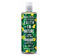 Faith in Nature přírodní šampon proti lupům Citrón & Tea Tree 400ml