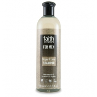 SLEVA 25% Faith For Men šampon BIO zázvor/limeta 250ml