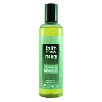 Faith For Men přírodní sprchový gel BIO Modrý cedr 250ml