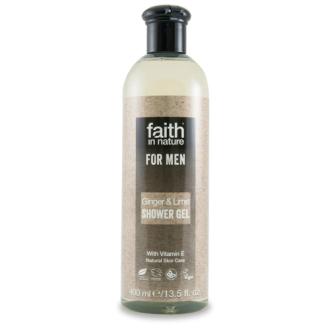 Faith For Men přírodní sprchový gel BIO zázvor/limeta 250ml