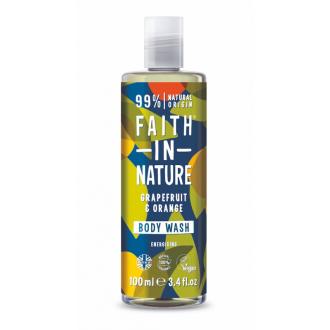Faith in Nature přírodní sprchový gel Grapefruit&Pomeranč 100ml