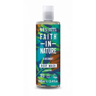 Faith in Nature přírodní sprchový gel Kokos cestovní - 100ml