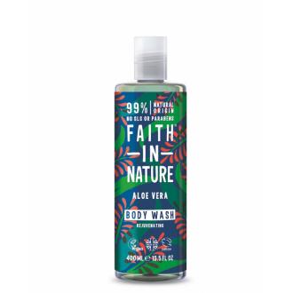 Faith in Nature přírodní sprchový gel/pěna BIO Aloe/Ylang 400ml