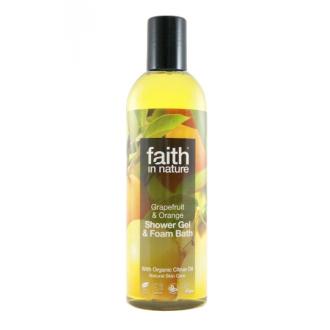 Faith in Nature přírodní sprchový gel BIO Grapefruit&Pomeranč  250ml