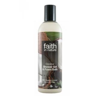 Faith in Nature přírodní sprchový gel/pěna BIO Kokos 250ml
