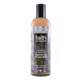Faith in Nature přírodní sprchový gel/pěna Levandule 250ml