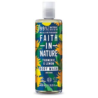 SLEVA 25% EXPIRACE Faith in Nature sprchový gel kurkuma&citrus 400ml