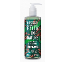 Faith in Nature antibakteriální tekuté mýdlo Aloe Vera & Tea Tree 400ml