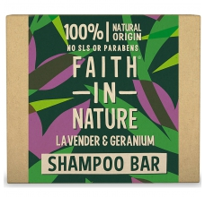 Faith in Nature tuhý šampon levandule a pelargonie 85g