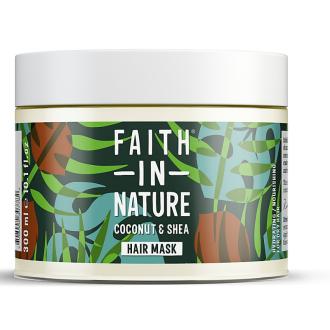 Faith in Nature vlasová maska kokos a bambucké máslo 300ml