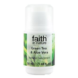 Faith in Nature přírodní kuličkový deodorant pro ženy - Green Tea