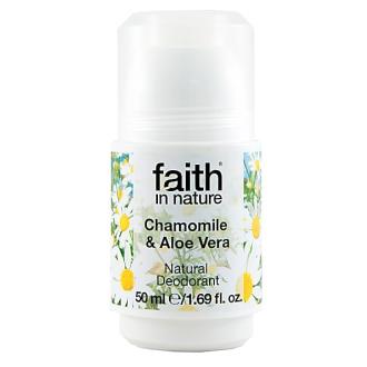 Faith in Nature přírodní kuličkový deodorant pro ženy - Heřmánek
