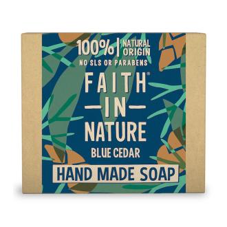 Faith For Men tuhé mýdlo Modrý cedr 100g