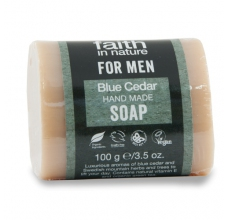 Faith For Men tuhé mýdlo Modrý cedr 100g