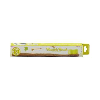 Humble Brush Dětský bambusový kartáček na zuby Ultra soft žlutý