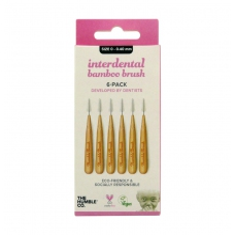 Humble Brush Mezizubní bambusové kartáčky vel. 0, 0,40mm růžová