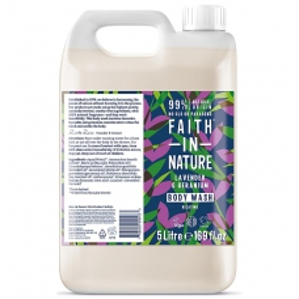 Kanystr 5 litrů Faith in Nature přírodní sprchový gel Levandule