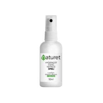 Naturet přírodní dezinfekční hygienický sprej na ruce s Aloe Vera 50ml