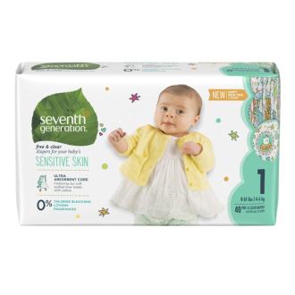 SEVENTH Dětské pleny Mini 1 (3,5-6 kg) malé balení 34 ks HYPOALERGENNÍ