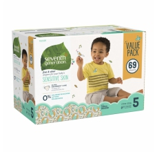 SEVENTH Generation pleny Maxi 5 (nad 12 kg) 69 ks Megapack