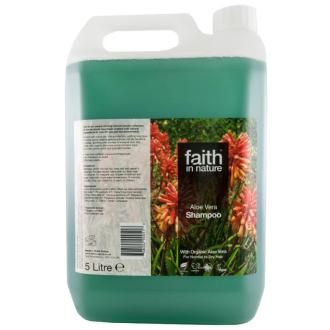 SLEVA 25% EXPIRACE Kanystr 5 litrů Faith in Nature přírodní šampon s BIO Aloe Vera