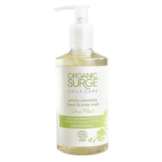 Organic Surge tekuté mýdlo na ruce a tělo citrus a máta 250ml