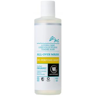 Urtekram dětská mycí emulze na tělo i vlasy bez parfemace 250ml BIO