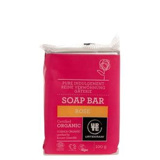 Urtekram růžové mýdlo BIO 100g