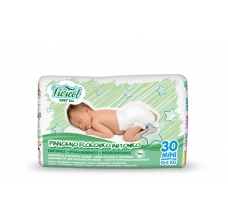 Vivicot Natural pleny Mini do 5 kg Hypoalergenní 30ks